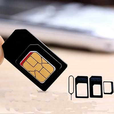 REMAX 4 in 1 Pack Nano to Micro & Standard SIM Card Slot Adapter For Smartphone