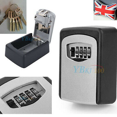 Outdoor Key Safe For House & Spare Car Keys – Strong Steel Lock Box Wall Mount