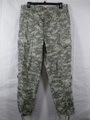 ACU Pants/Trousers Large Long USGI Digital Camo Cotton/Nylon Ripstop Army Combat