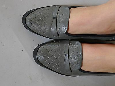 vintage retro true 80s 7 M grey low shoes loafers very good