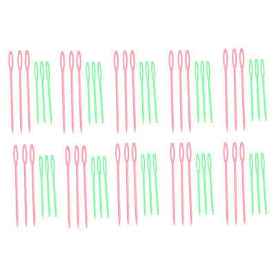 60x Plastic Needles Sewing Stitching Multi-Color Plastic Various-Sizes 6H9