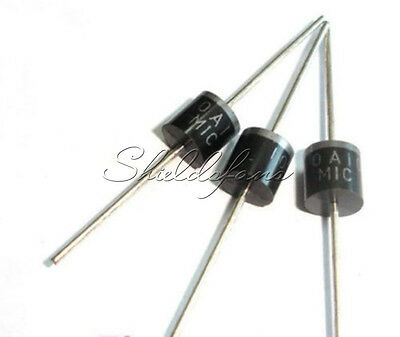 10PCS 10A10 R-6 10A 1000 Volts Silicon Rectifiers 1KV Diodes IC NEW S