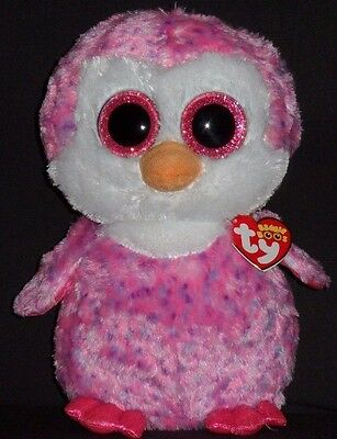 """TY BEANIE BOOS - GLIDER the 9"""" PENGUIN - EUROPEAN EXCLUSIVE - MINT with MINT TAG"""