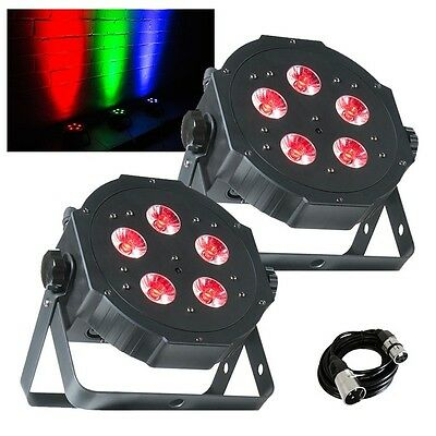 2x American DJ Mega TRIPAR Profile PLUS LED Lighting Effects with FREE DMX Cable