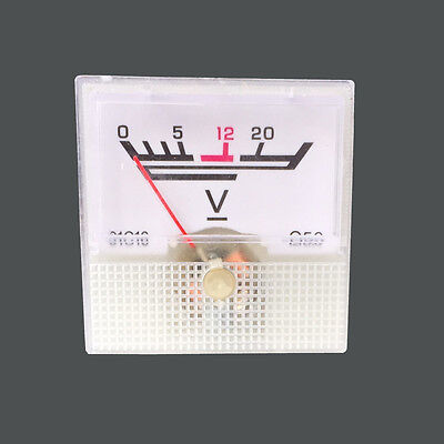 0-20V Analog Voltage Panel Meter voltmeter Guage 5PCS