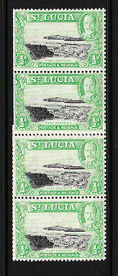 ST LUCIA 1936 ½d PERF 13x12 IN COIL JOIN STRIP SG 113a MNH.