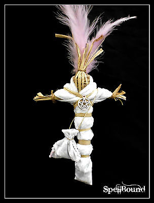 """SPELL-INFUSED Authentic HUGE 17"""" WITCH DOLL Witches LOVE CHARM Voodoo RELIC"""