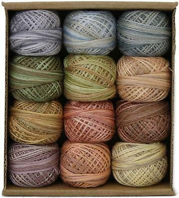 Valdani Muddy Monet 3 Strand Cotton Floss Embroidery Punchneedle Thread Set