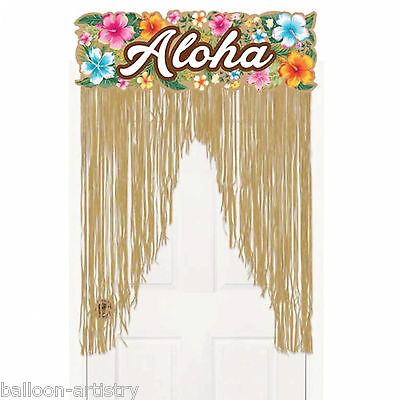 2m Tropical Hawaiian Party ALOHA Grass Doorway Door Sign Curtain Decoration