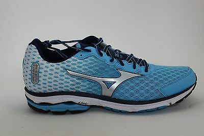 Women's Mizuno Wave Rider 18 Running Shoes Blue Atoll/Silver 410658.5Z73 New!!!
