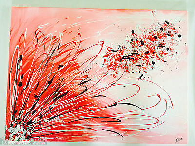 """"""" Cross-pollination """" by Eva A. - Acrylic On Canvas Painting 80x60cm Abstract"""