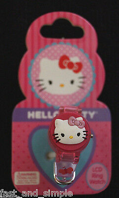 Hello Kitty LCD Ring Watch