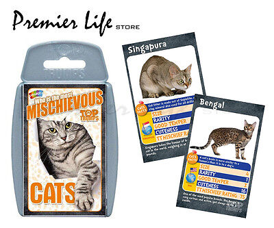 Cats Top Trumps - Who's the Most Mischievous? Card Game