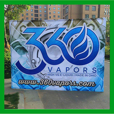 10ft Pop Up Display With Custom Graphic Printing For Trade Show Booth Backdrop