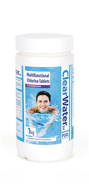 CLEARWATER 5X200g  TABLETS MULTI FUNCTION CHEMICAL CHLORINE SWIMMING POOL CH0020