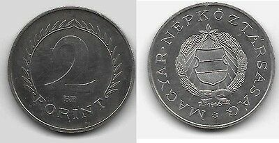 1966 BP HUNGARY silver  2 Forint LOW MINTAGE Proof
