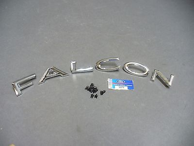 64 65 Falcon trunk letters set Ford licensed