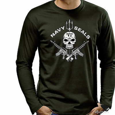 Navy Seals Special Forces T-Shirt 3195 oliv LS
