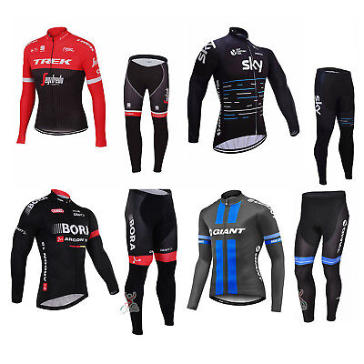 2017 Sports Bicycle Bike Cycling Men Clothing Long Sleeve Jersey Long Pants Set