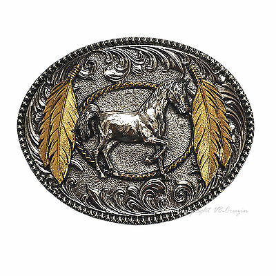 Western Riding Horse Country Indians Buckle Belt Buckle 498