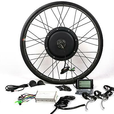 "LCD + 48V1500W Hi Speed Electric Bicycle E Bike Hub Motor Conversion Kit 26""rear"