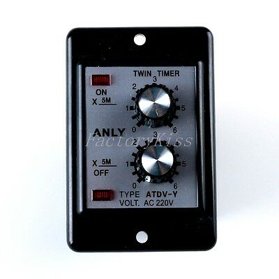 1x On/Off Relay Timer Panel AC220V Repeat-Cycle Delay 0-30-Min Installed 1GU