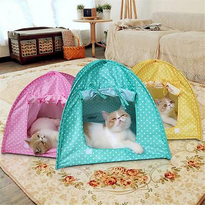 Soft Outdoor Foldable Kennel Pet Kitten Cat Bed Camp Tent Puppy Dog Play House