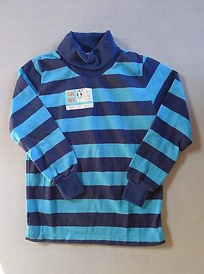 Vintage retro true 70s unused 3 yo toddler childrens  skivvie top stripes tags