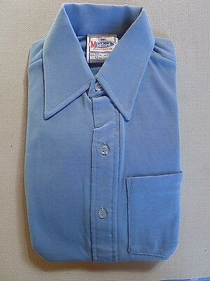 Vintage retro true 70s unused 10 yo boys childrens body shirt blue as new