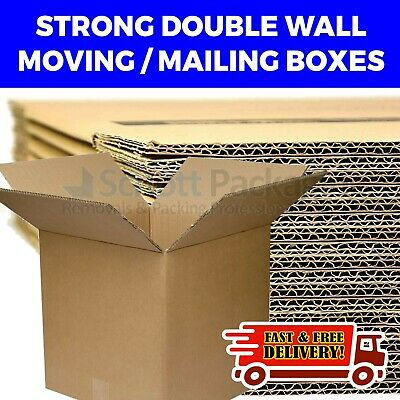 NEW 15 X LARGE Double Wall Removal House Moving Cardboard Boxes