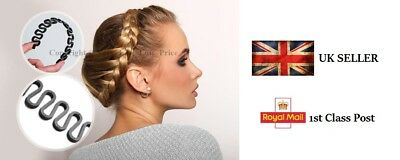 French Braid Plaiting Twist Braider Roller Hook Bun Maker Hair Styling Tool