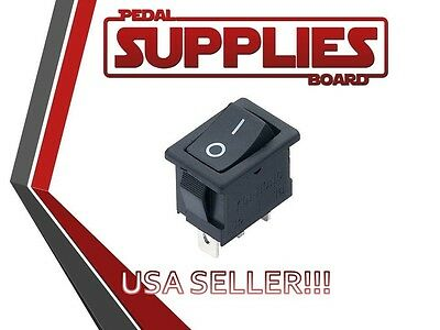 Micro Rocker Switch Black, 2 Pin On Off (SPST) AC 3A AC 250V KCD11 USA Seller