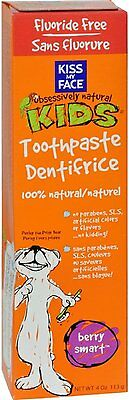Berry Smart Toothpaste Fluoride Free, Kiss My Face, 4 oz