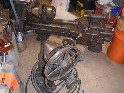 "MACHINIST TOOL LATHE Machinist South Bend 9"" Lathe with Partial Taper Attachment"