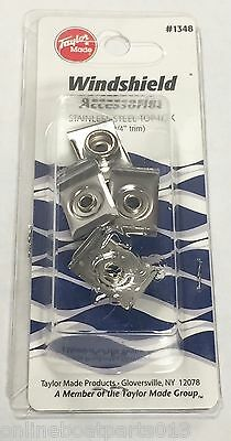 """Boat Windshield Stainless,top-Lok Windshield Snaps, 3/4"""", 4 Included Taylor 1348"""