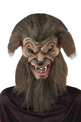 Human Turning Into Wolf By Night Costume Full Latex Mask Costume Fm60191