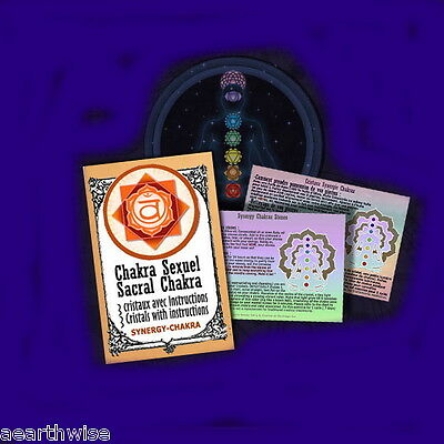 SACRAL CHAKRA SYNERGY CRYSTALS KIT Wicca Witch Pagan Goth RITUAL KIT