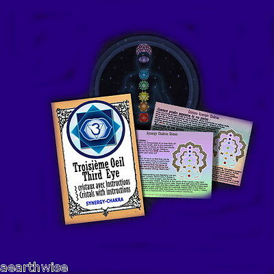THIRD EYE CHAKRA SYNERGY CRYSTALS KIT Wicca Witch Pagan Goth RITUAL KIT