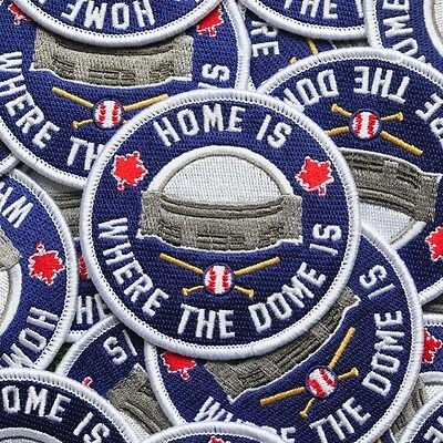 Home Is Where The Dome Is Patch - toronto blue jays skydome sky dome