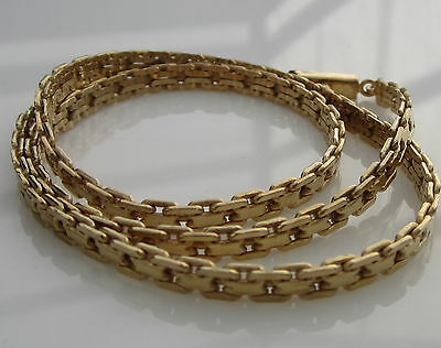 Gorgeous Estate BREV Italy 14k Yellow Gold 19.3 Gram Articulated Chain Necklace