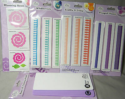 Quilled Creations Quilling Dies Wildflowers Mums Roses Dahlia Daisy Cutting Pads