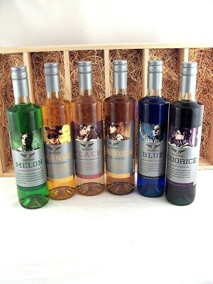 PLATINUM LIQUEURS ULTIMATE GIFT SET - 6 x 750ml in Timber Case F Isleofwine