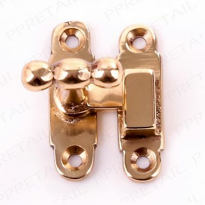 SOLID BRASS CABINET/CUPBOARD SHOWCASE FASTENER CATCH Show Case Small Latch Lock