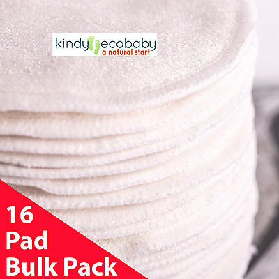 Bamboo Breast Pads, Washable x 16, reusable Maternity,leak-proof,Hypo-allergenic