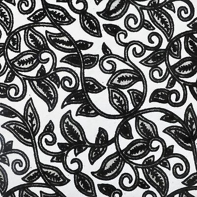 10 x A4 Flocked Vineyard Black on White Craft, Invitations/Scrapbooking Paper