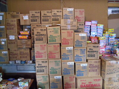 Gigantic Estate Sale Of Old Baseball Card Packs Plus One FREE Mantle Card!