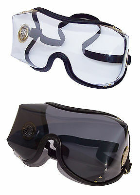 KROOPS OTG OVER THE GLASSES GOGGLES for Horse Riding / SkyDiving | Brass Vented