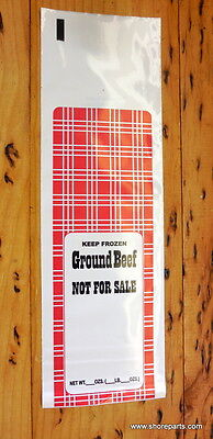 GROUND BEEF MEAT CHUB BAG 2lb CAPACITY PACKED 50 EA PER PACKAGE FREE FREIGHT