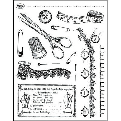 Tampons transparents Viva VINTAGE COUTURE scrapbooking carterie stamps tailoring