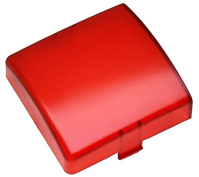 """dome light lens square red plastic 3"""" two tab Kenworth 1995-2000"""